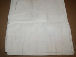 Hotel Collection 700 TC Stripe MicroCotton EURO Sham Ivory / off white - $15.20