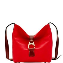 Dooney & Bourke Derby Pebble Crossbody Hobo Shoulder Bag Red