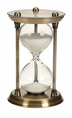 Primary image for Metal Glass Quarter Hourglass 15 Minutes Time Interval Clock Timer Home Decor