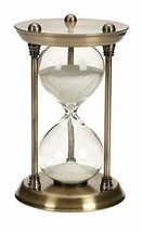 Metal Glass Quarter Hourglass 15 Minutes Time Interval Clock Timer Home ... - £33.43 GBP