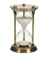 Metal Glass Quarter Hourglass 15 Minutes Time Interval Clock Timer Home ... - £32.95 GBP