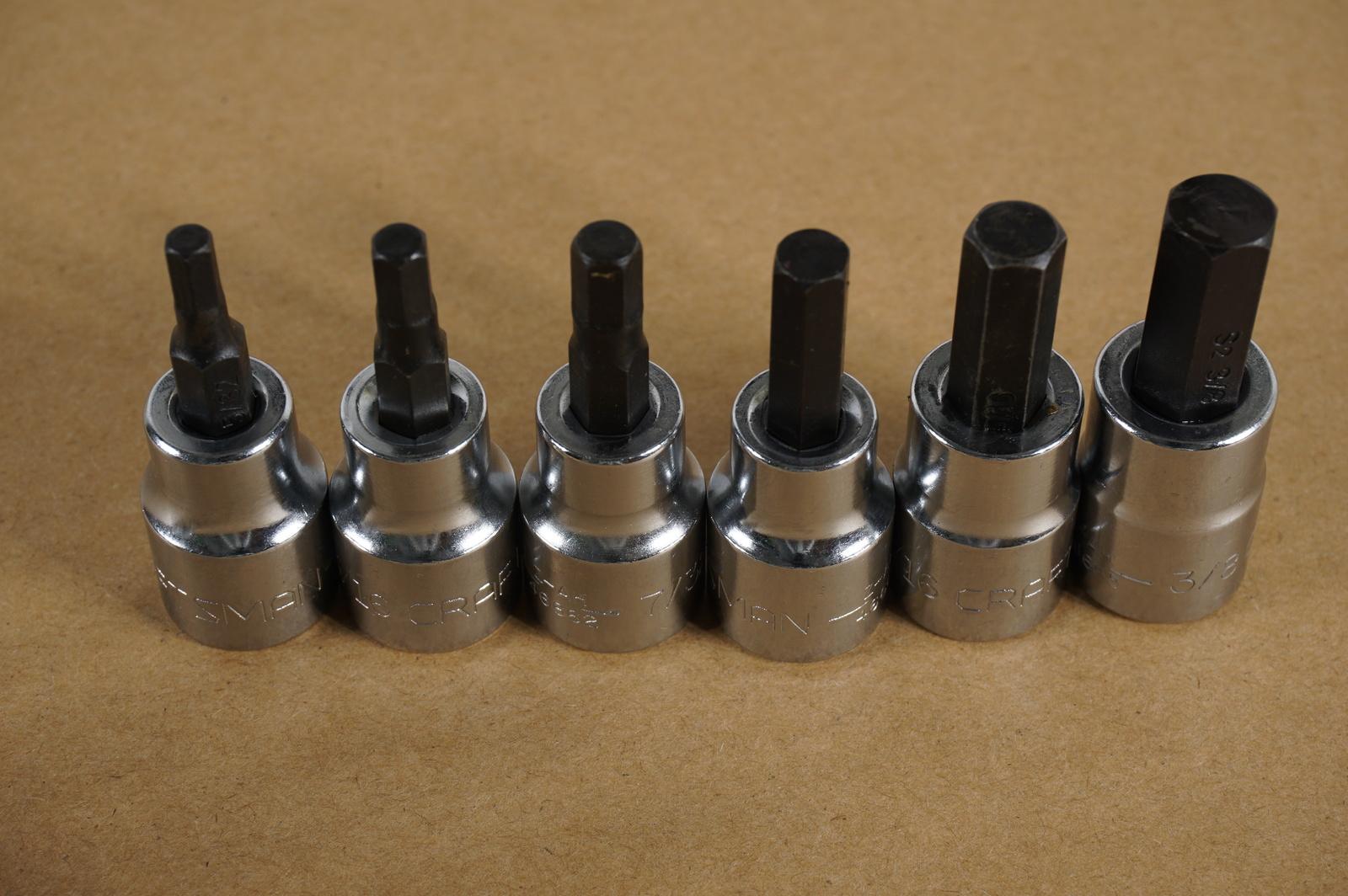 Star bit ratchet wrench socket set CRAFTSMAN HAND TOOLS 7pc LOT External Torx
