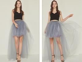 White Hilo Over-skirt / Wedding Bridal Wear Tulle Skirt / White Open Tulle Skirt image 12