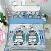 3D Penguins 151 Bed Pillowcases Quilt Duvet Cover Set Single Queen King Size AU - $64.32+