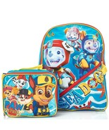 Paw Patrol Backpack with Lunch Bag Sea Patrol Chase Skye Marshall 16 Inch - £15.50 GBP