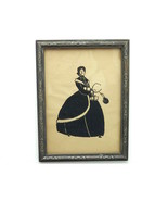 Vintage Framed Print Woman Shopping Glass 1930's - $15.00
