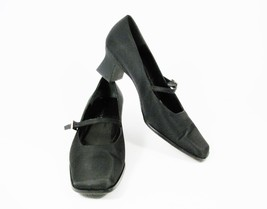 Fabric Sole w Strap KENNETH 9B Upper Women's Pumps Buckle COLE Black Leather TxwR1a0
