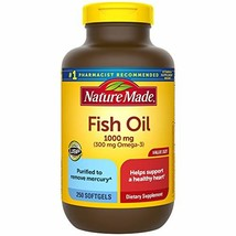 Nature Made Fish Oil 1000 mg Softgels, 250 Count Value Size for Heart He... - $14.99+