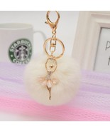 Key Pendant Pom Pom Knitted Fur Ball Pompom Girl Women Bag pink red blue... - $3.99