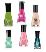 6 Sally Hansen Insta Dri Nail Polish Pink Green Spring Colors - $13.99