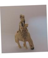Antique Signed Netsuke Man on Horse Delightful Details RARE Ornate - $425.00