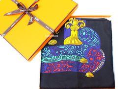 """Nwot Authentic Hermes Paris Scarf""""L'atlantide"""" Annie Faivre Carre 90 Cm - $379.00"""
