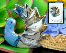 Vintage dove bird brooch pin ceramic enamel sylvain filion quebec thumb200