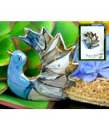Vintage Dove Bird Brooch Pin Ceramic Enamel Sylvain Filion Quebec - $24.95