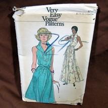 Vtg Very Easy Vogue Pattern 1970's Halter Dress Sz 10 Uncut FF #9185 Flared - $17.99