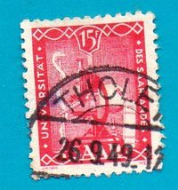 1949 Saar Used Postage Stamp  The First Anniversary of the University of... - $3.99
