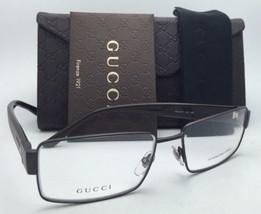Nuovo Gucci Occhiali da Sole Gg 2217 L13 55-16 Marrone Cacao Frame W/Trasparente