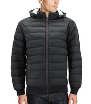 Men's Sherpa Lined Lightweight Hooded Zipper Insulated Quilted Puffer Jacket image 10