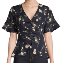 nwt Short Sleeve Floral Blouse M - $17.00