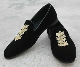 shoes men loafer velvet Handmade leather shoes men for embrioded shoes men wAR00znEq