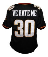 He Hate Me #30 Rod Smart New Men Football Jersey Black Any Size - $34.99