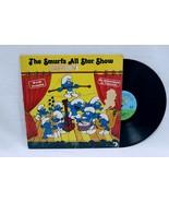 VINTAGE 1981 Smurfs All Star Show Vinyl LP Record Album - $22.76