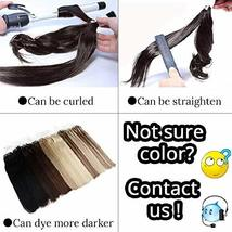 Hetto #2 Darkest Brown Human Hair Link Micro Rings Beads Extensions 50Gram 1G/St image 7