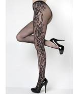 Fashion Mic Women's Flower Blossom Vine Fishnet Pantyhose Regular & Queen - $13.85