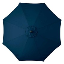 Nautical Blue 9 Foot Deluxe Patio Umbrella Crank Tilt White or Bronze Frame - $231.26 CAD