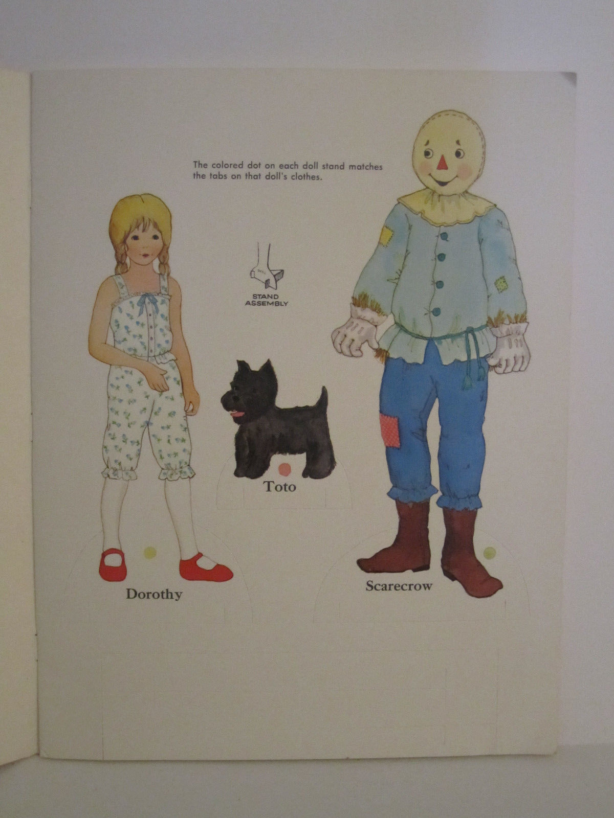 Whitman Wizard of OZ PaperDolls Vintage 1976 Paper Doll #1987 image 3