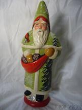 Vaillancourt Folk Art Woodland Father Christmas with Cardinals Signed image 1