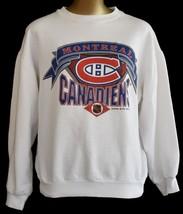 Vintage  90s Montreal Canadiens Sweatshirt Ice Hockey Size Medium to Large - $39.99