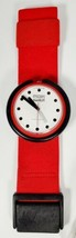 DEADSTOCK Vintage PopSwatch Watch Fire Signal PWBR001 1987 Red White - $69.99