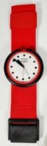 DEADSTOCK Vintage PopSwatch Watch Fire Signal PWBR001 1987 Red White - $69.99