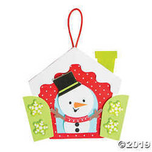Snowman in a Window Ornament Craft Kit (Makes 12) - $9.11