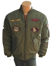 Disney Nylon Bomber Jacket Reversible Embroidered Patches New Rare Colle... - $94.95