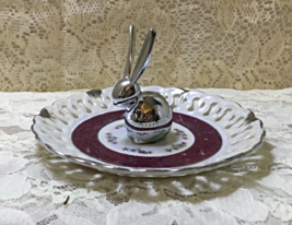Saucer Stainless Steel Rabbit Ring Holder Ring Tree Up-Cycled Vintage Sa... - $14.99