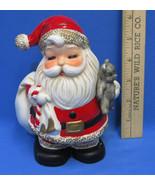 Vintage Ceramic Santa Claus Bank Home Interiors Homco Gifts Teddy Bear C... - $13.85