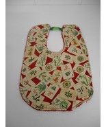 Handcrafted by me~Multi Color Mah Jongg Themed Double Sided Baby Bib w/B... - $10.00