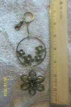 # purse jewlrey bronze color keychain backpack filigree stylish flowers ... - $3.49