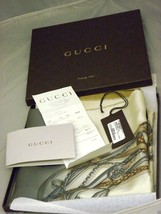 AUTHENTIC GUCCI SILK 34 X 34 SQUARE SILK SCARF - $244.02