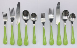 Two (5 Pc) Flatware Set Fiesta Chartreuse by HOMER LAUGHLIN 17-785 - $37.95