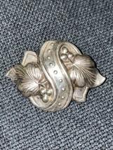 Vintage Sterling Silver Brooch Pin Flower 2 X 1 1/2 8gr - $9.49