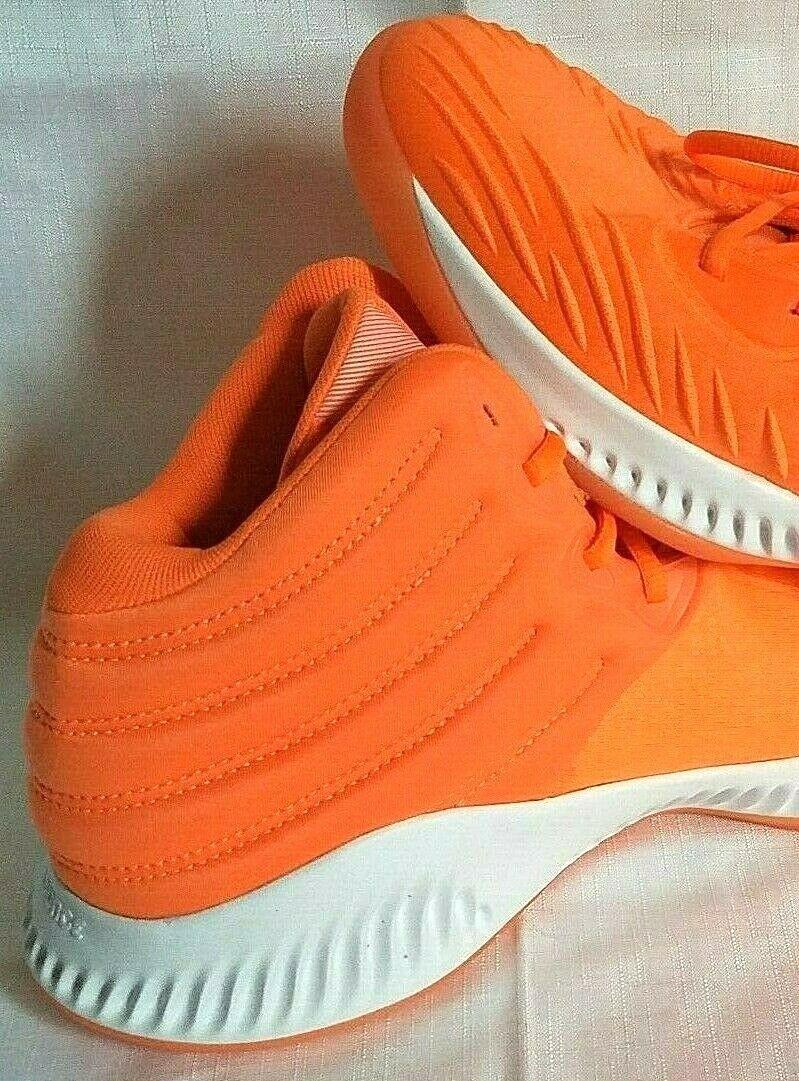 adidas SM Mad Bounce Mens 12.5 D97371 Basketball Shoes Orange & White 2018 image 7