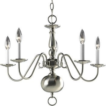 Primary image for Progress Lighting P4355-09 5-Light Americana Chandelier with Delicate Arms and D