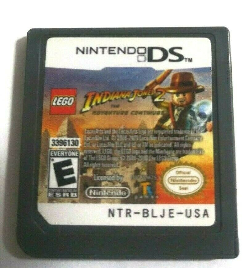 LEGO Indiana Jones 2: The Adventure Continues Nintendo DS, 200)Game Only No Case