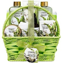 Bath and Body Gift Basket For Women and Men - Magnolia and Tuberose Home Spa Set