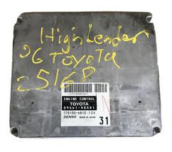 ECM ECU Engine Computer Module 2006 Toyota Highlander A/T 3.3L | 89661-4... - $135.00