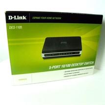 D-Link DES-1105 Internet 5 Port 10/100 Switch HUB Ethernet Network NIB - $18.00