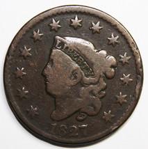 1827 Large Cent Liberty Coronet Head Coin Lot # MZ 4088